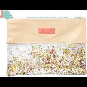 Benefit Bags - Benefit Make up Bag Sparkle w/ Mini Dandelion Dew